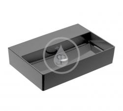 VILLEROY & BOCH - Memento 2.0 Umyvadlo nábytkové 600x420 mm, bez přepadu, bez otvoru pro baterii, CeramicPlus, Glossy Black (4A226FS0)