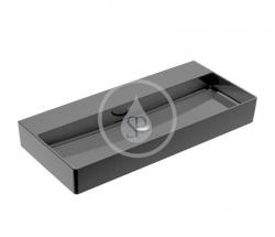 VILLEROY & BOCH - Memento 2.0 Umyvadlo 1000x470 mm, bez přepadu, bez otvoru pro baterii, CeramicPlus, Glossy Black (4A22A3S0)