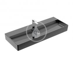 VILLEROY & BOCH - Memento 2.0 Umyvadlo 1200x470 mm, bez přepadu, otvor pro baterii, CeramicPlus, Glossy Black (4A22C2S0)
