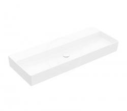 VILLEROY & BOCH - Memento 2.0 Umyvadlo nábytkové 1200x470 mm, bez přepadu, bez otvoru pro baterii, CeramicPlus, alpská bílá (4A22CFR1)