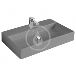 VILLEROY & BOCH - Memento Umyvadlo 800x470 mm, bez přepadu, otvor pro baterii, CeramicPlus, Glossy Black (513381S0)