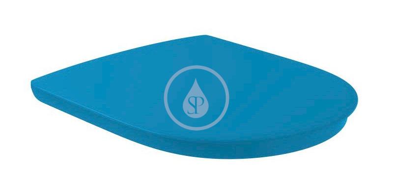 VILLEROY & BOCH O.novo Vita WC sedátko Compact, AntiBac, modrá 9M7261P1