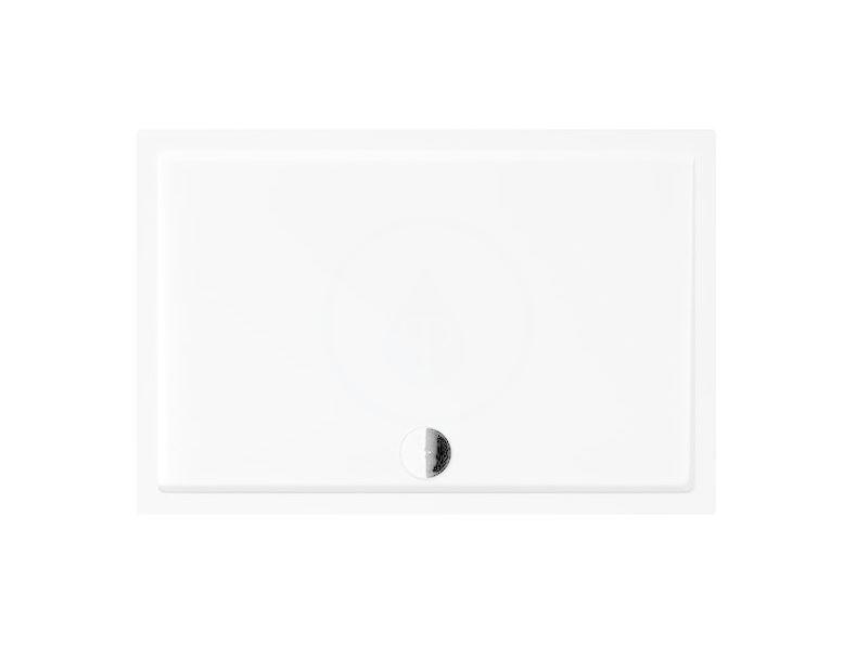 JIKA Padana Sprchová vanička, litý mramor, 1000x900x35 mm, bílá H2119380000001