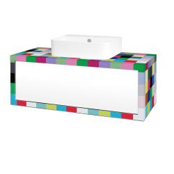 Dřevojas - Koupelnová skříň STORM SZZ 100 (umyvadlo Joy 3) - IND Individual / L01 Bílá vysoký lesk (218195)