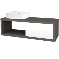 Dřevojas - Koupelnová skříň STORM SZZO 120 (umyvadlo Joy 3) - N06 Lava / L01 Bílá vysoký lesk / Pravé (219796P)