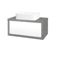 Dřevojas - Koupelnová skříň STORM SZZ 80 (umyvadlo Joy) - D20 Galaxy / L01 Bílá vysoký lesk (250874)