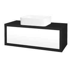 Dřevojas - Koupelnová skříň STORM SZZ 100 (umyvadlo Joy) - L03 Antracit vysoký lesk / L01 Bílá vysoký lesk (251413)