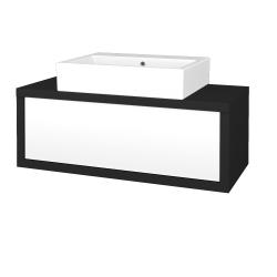 Dřevojas - Koupelnová skříň STORM SZZ 100 (umyvadlo Kube) - L03 Antracit vysoký lesk / L01 Bílá vysoký lesk (251819)