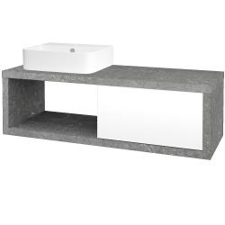 Dřevojas - Koupelnová skříň STORM SZZO 120 (umyvadlo Joy 3) - D20 Galaxy / L01 Bílá vysoký lesk / Levé (253301)