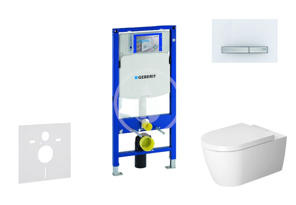 GEBERIT Duofix Modul pro závěsné WC s tlačítkem Sigma50, alpská bílá + Duravit ME by Starck WC a sed