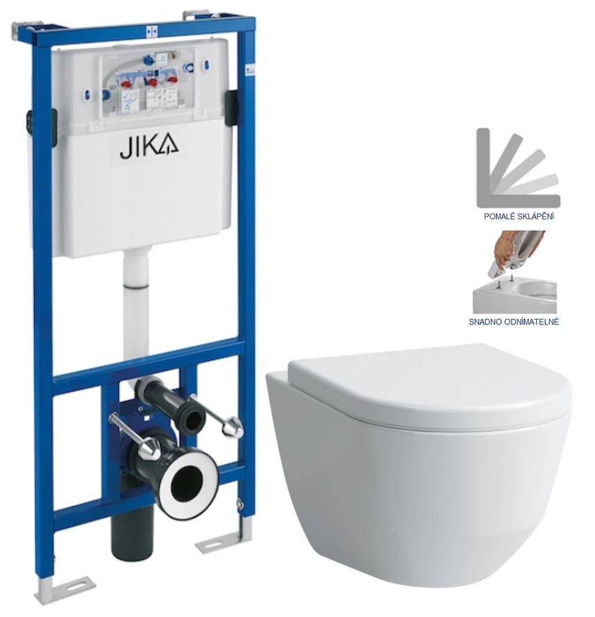 předstěnový instalační systém bez tlačítka + WC LAUFEN PRO + SEDÁTKO H895652 X LP3