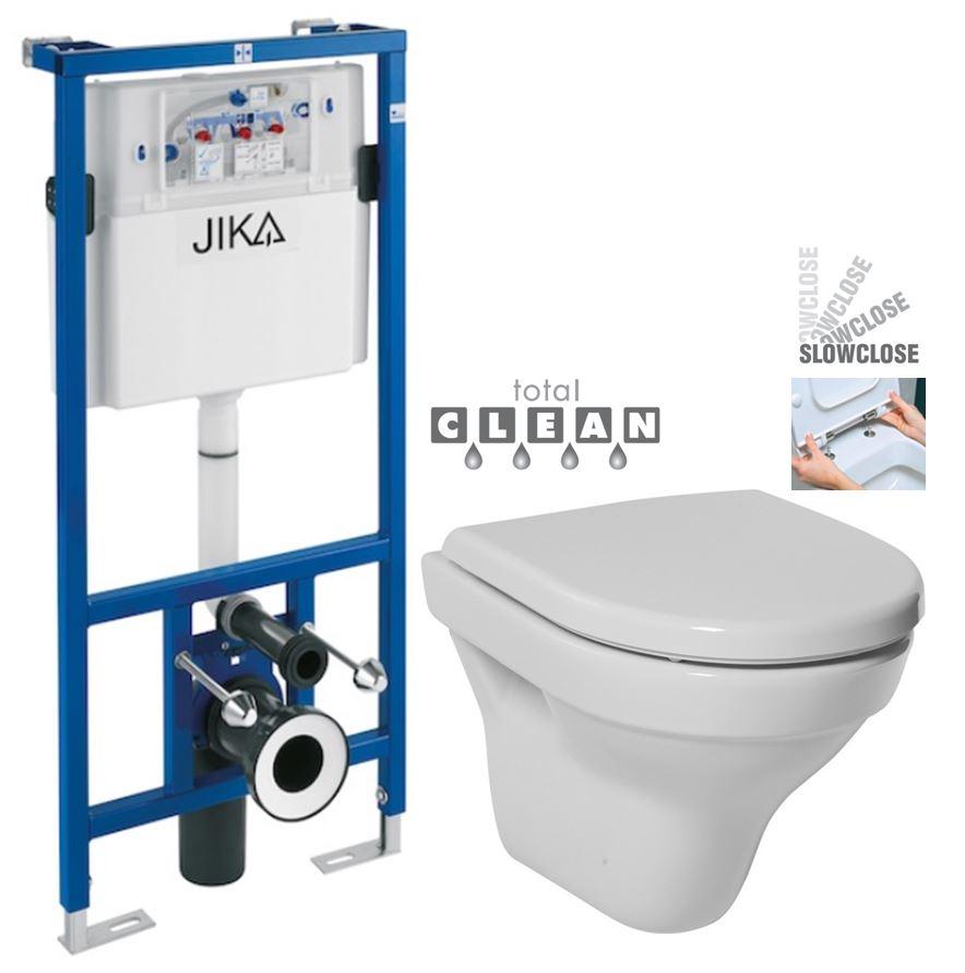 JIKA předstěnový instalační systém bez tlačítka + WC JIKA TIGO + SEDÁTKO DURAPLAST SLOWCLOSE H895652 X TI2