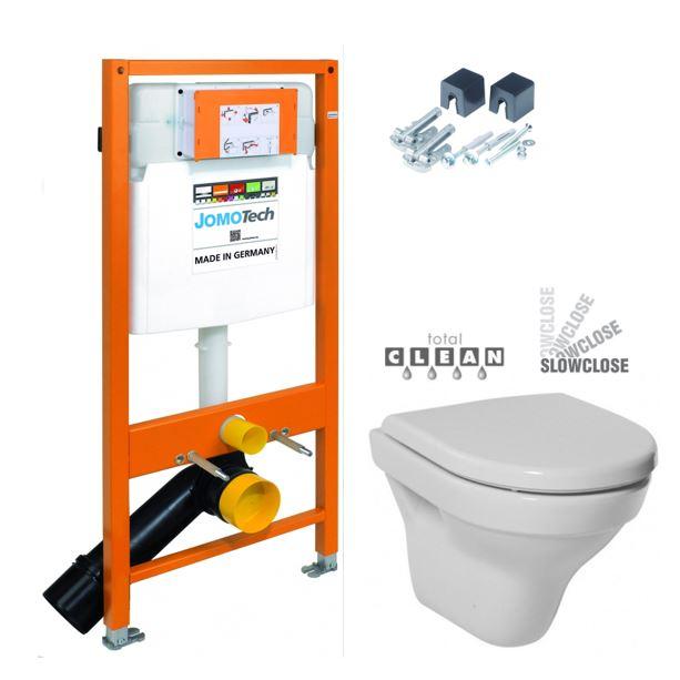 JOMO DUO modul pro závěsné WC bez desky + WC JIKA TIGO + SEDÁTKO DURAPLAST SLOWCLOSE 174-91100700-00 TI2