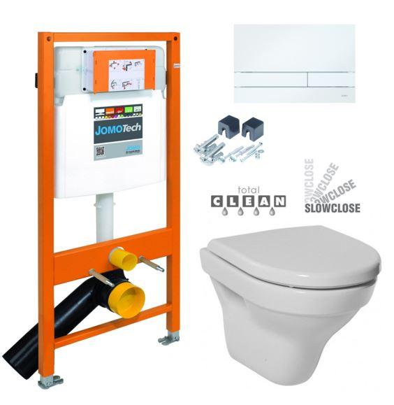 JOMO DUO modul pro závěsné WC s bílou deskou + WC JIKA TIGO + SEDÁTKO DURAPLAST SLOWCLOSE 174-91100900-00 TI2