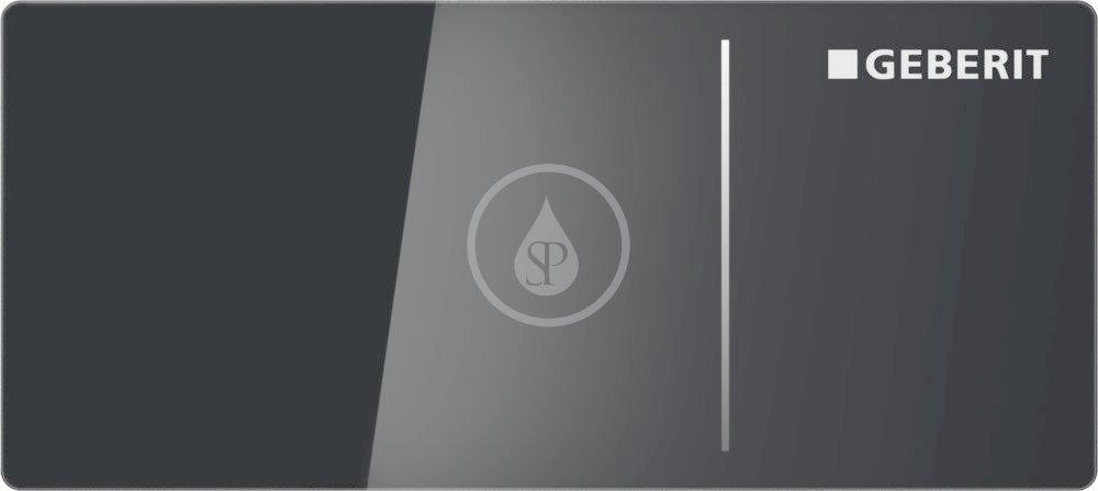 GEBERIT Omega70 Nábytkové ovládací tlačítko typ 70, pro splachovací nádržku pod omítku Omega, černé