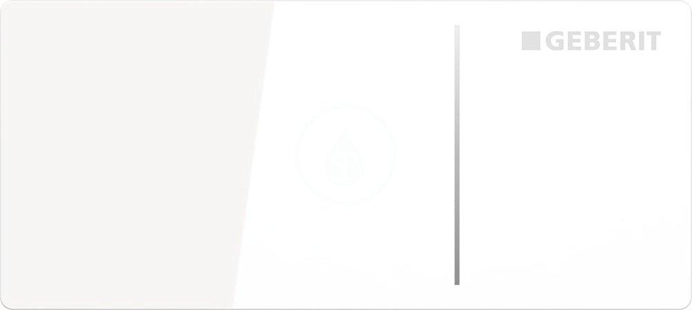 GEBERIT Omega70 Nábytkové ovládací tlačítko typ 70, pro splachovací nádržku pod omítku Omega, bílé s