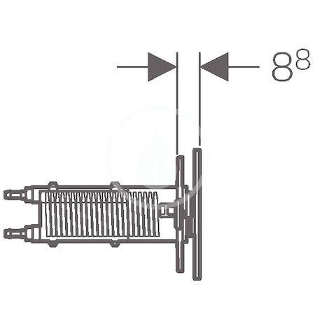 GEBERIT - Omega70 Nábytkové ovládací tlačítko typ 70, pro splachovací nádržku pod omítku Omega, bílé sklo (115.083.SI.1)