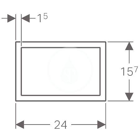 GEBERIT - Sigma60 Krycí rámeček pro Sigma60, kartáčovaný chrom (115.641.GH.1)