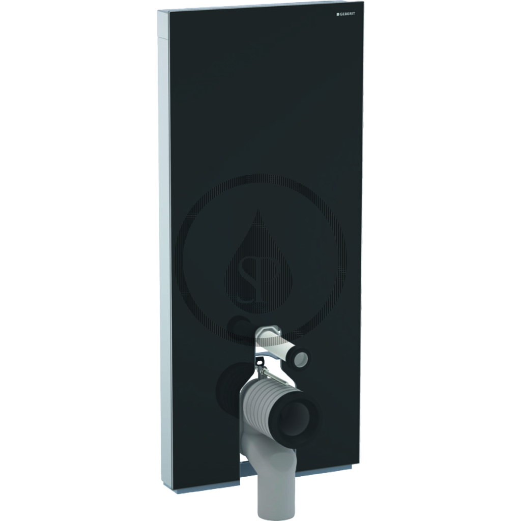 GEBERIT Monolith Plus Sanitární modul pro stojící WC, 114 cm, spodní přívod vody, černá 131.233.SJ.5