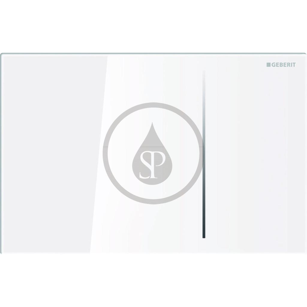 GEBERIT Sigma70 Dotykové ovládací tlačítko pro 2 množství splachování, bílé sklo 115.625.SI.1