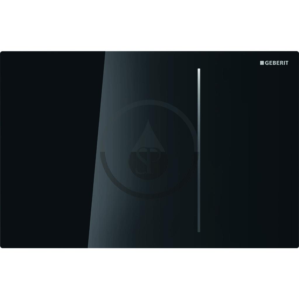 GEBERIT Sigma70 Dotykové ovládací tlačítko pro 2 množství splachování, černé sklo 115.625.SJ.1