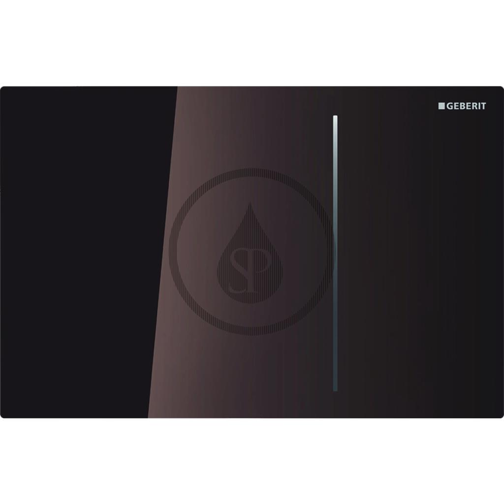 GEBERIT Sigma70 Dotykové ovládací tlačítko pro 2 množství splachování, hnědé sklo 115.625.SQ.1