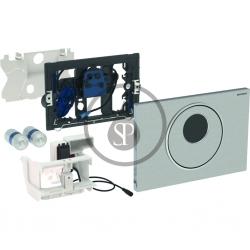 GEBERIT - Sigma10 Elektronické ovládací tlačítko, bateriové napájení, kartáčovaná/leštěná nerez (115.891.SN.5)