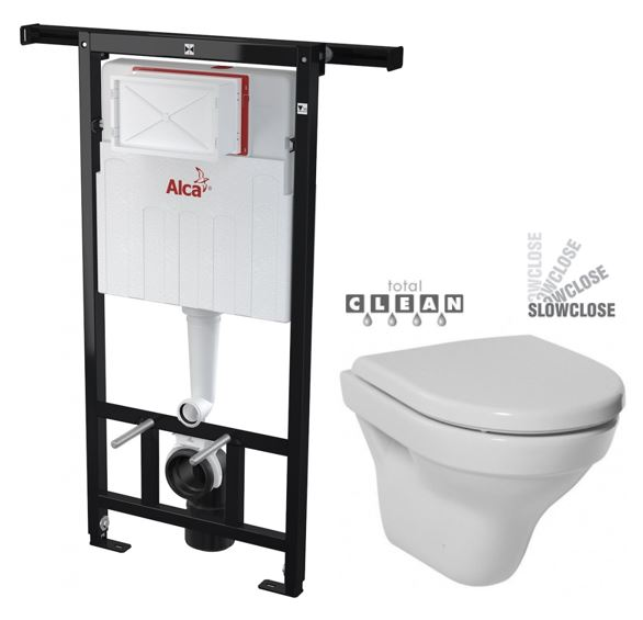 ALCAPLAST Jádromodul předstěnový instalační systém bez tlačítka + WC JIKA TIGO + SEDÁTKO DURAPLAST SLOWCLOSE AM102/1120 X TI2