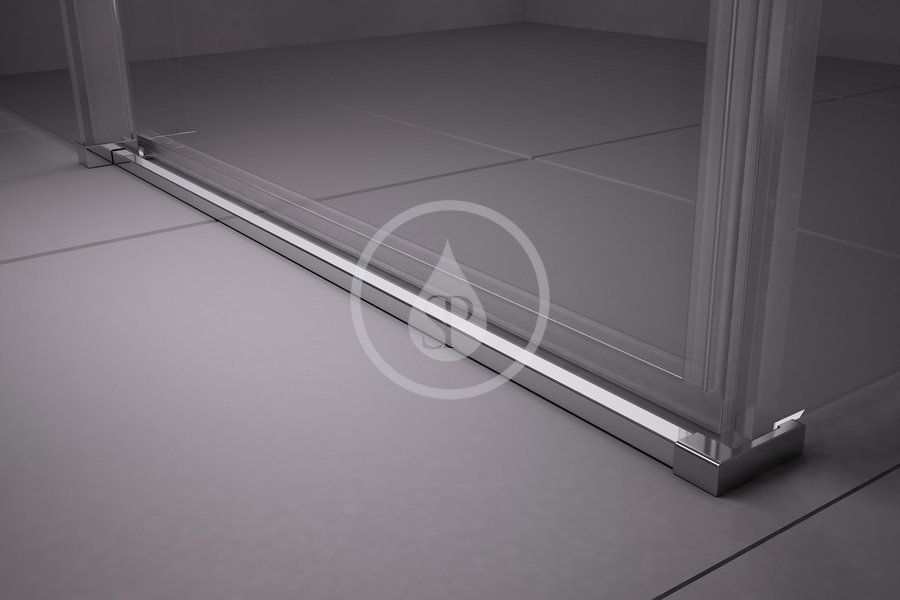 RAVAK - Matrix Sprchový kout čtyřdílný MSRV4-100/100, 985-1005 mm, satin/čiré sklo (1WVAAU00Z1)