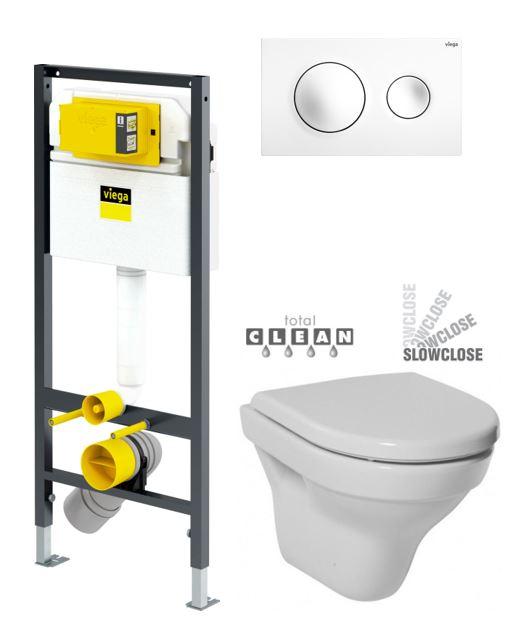 VIEGA Presvista modul DRY pro WC včetně tlačítka Style 20 bílé + WC JIKA TIGO + SEDÁTKO DURAPLAST SLOWCLOSE V771973 STYLE20BI TI2