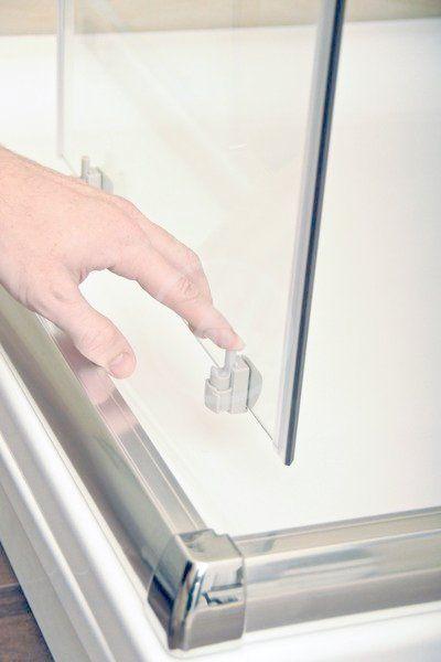 RAVAK - Blix Čtvrtkruhový sprchový kout čtyřdílný BLCP4-80, 780-800 mm, bílá/sklo Grape (3B240100ZG)