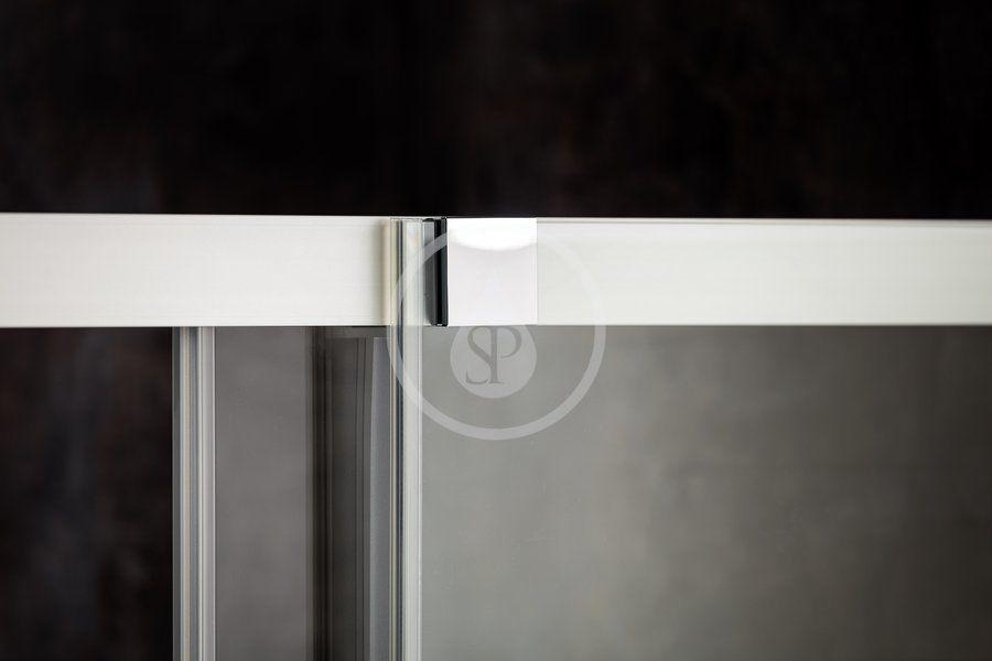 RAVAK - Matrix Sprchový kout čtyřdílný MSRV4-90/90, 885-905 mm, lesklý hliník/čiré sklo (1WV77C00Z1)
