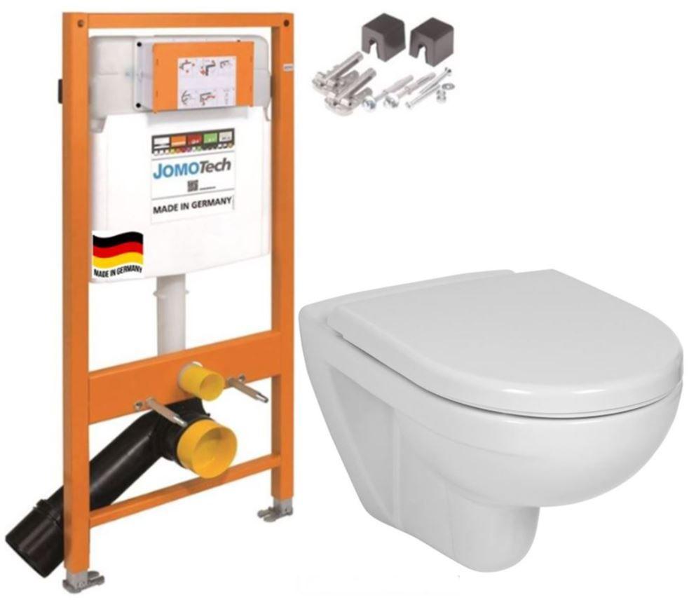 JOMOTech modul pro závěsné WC bez sedátka + WC JIKA LYRA PLUS + SEDÁTKO DURAPLAST 174-91100700-00 LY6