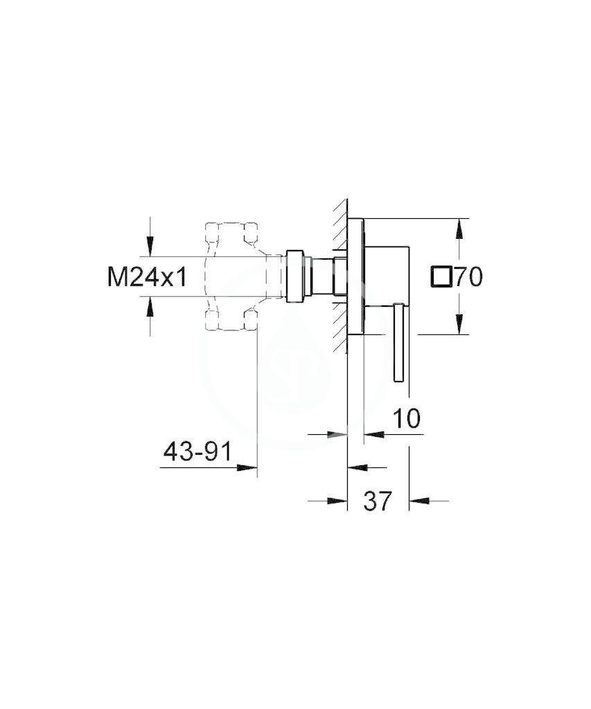 GROHE - Allure Vrchní díl podomítkového ventilu, chrom (19384000)