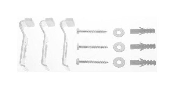 DURAVIT Příslušenství Souprava pro ukotvení vany a sprchové vaničky D-Code, 3 ks 790125000000000