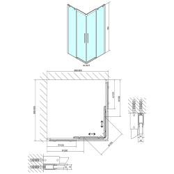 POLYSAN - ALTIS LINE čtvercová sprchová zástěna 900x900mm, čiré sklo (AL1615), fotografie 6/3