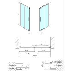 POLYSAN - ALTIS LINE sprchové dveře 1200mm, čiré sklo (AL3015), fotografie 6/5