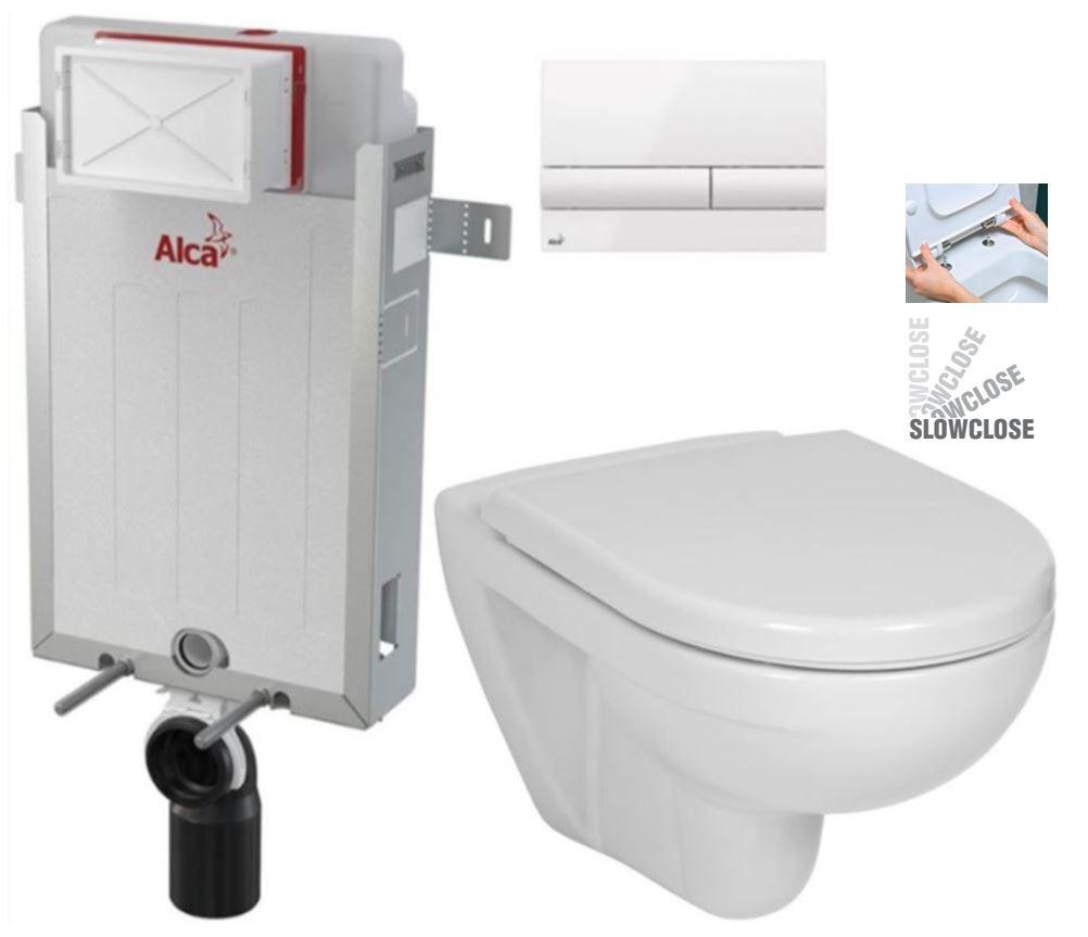 ALCAPLAST Renovmodul předstěnový instalační systém s bílým tlačítkem M1710 + WC JIKA LYRA PLUS + SEDÁTKO DURAPLAST SLOWCLOSE AM115/1000 M1710 LY5
