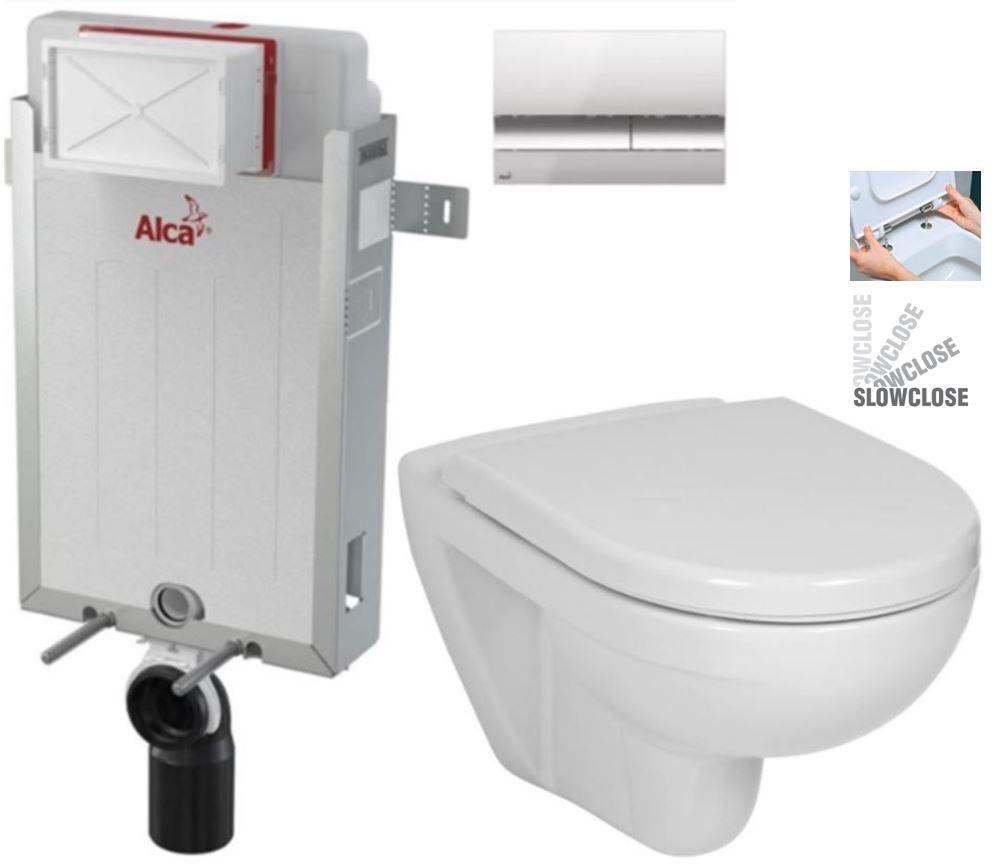 ALCAPLAST Renovmodul předstěnový instalační systém s chromovým tlačítkem M1721 + WC JIKA LYRA PLUS + SEDÁTKO DURAPLAST SLOWCLOSE AM115/1000 M1721 LY5