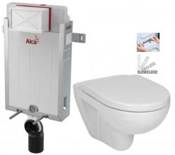 ALCAPLAST  Renovmodul - předstěnový instalační systém bez tlačítka + WC JIKA LYRA PLUS + SEDÁTKO DURAPLAST SLOWCLOSE (AM115/1000 X LY5)