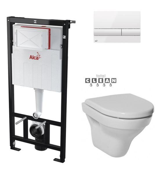 ALCAPLAST Sádromodul předstěnový instalační systém s bílým tlačítkem M1710 + WC JIKA TIGO + SEDÁTKO DURAPLAST AM101/1120 M1710 TI3