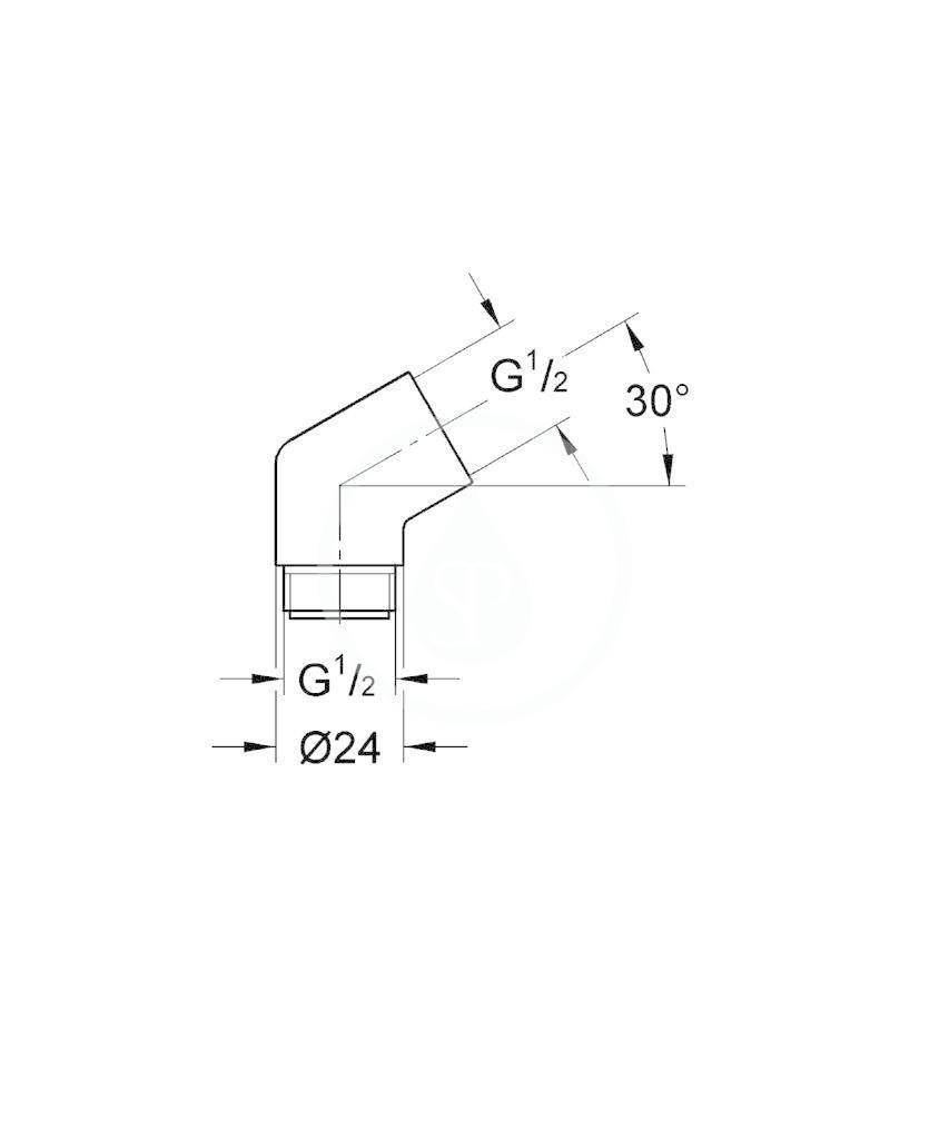 GROHE - Sena Adaptér 1/2 x 1/2, chrom (28389000)