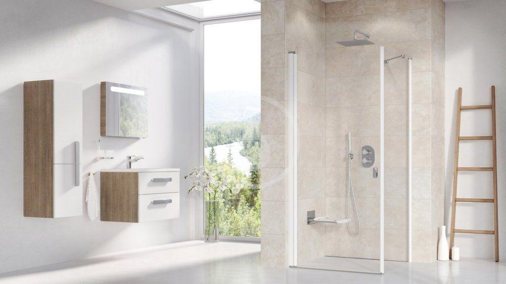 RAVAK - Chrome Sprchové dveře CRV1-90, 880-900 mm, bílá/čiré sklo (1QV70101Z1)