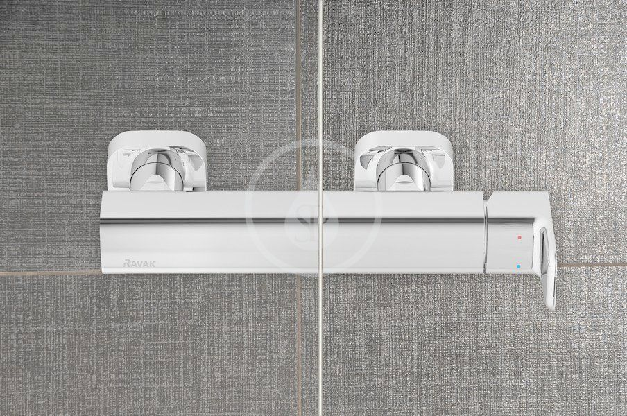 RAVAK - Chrome Sprchové dveře CRV1-90, 880-900 mm, satin/čiré sklo (1QV70U01Z1)