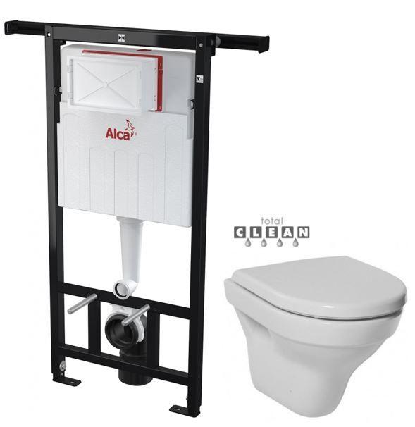 ALCAPLAST Jádromodul předstěnový instalační systém bez tlačítka + WC JIKA TIGO + SEDÁTKO DURAPLAST AM102/1120 X TI3