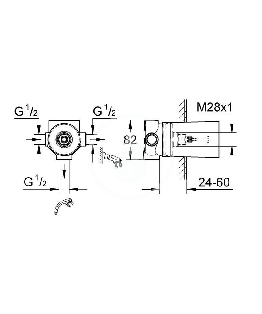 GROHE - Montážní tělesa Třícestný ventil (29706000)