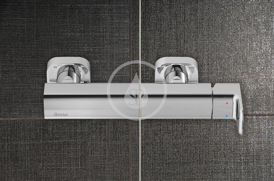 RAVAK - Blix Sprchové dveře čtyřdílné BLDP4-120, 1170-1210 mm, bílá/čiré sklo (0YVG0100Z1)