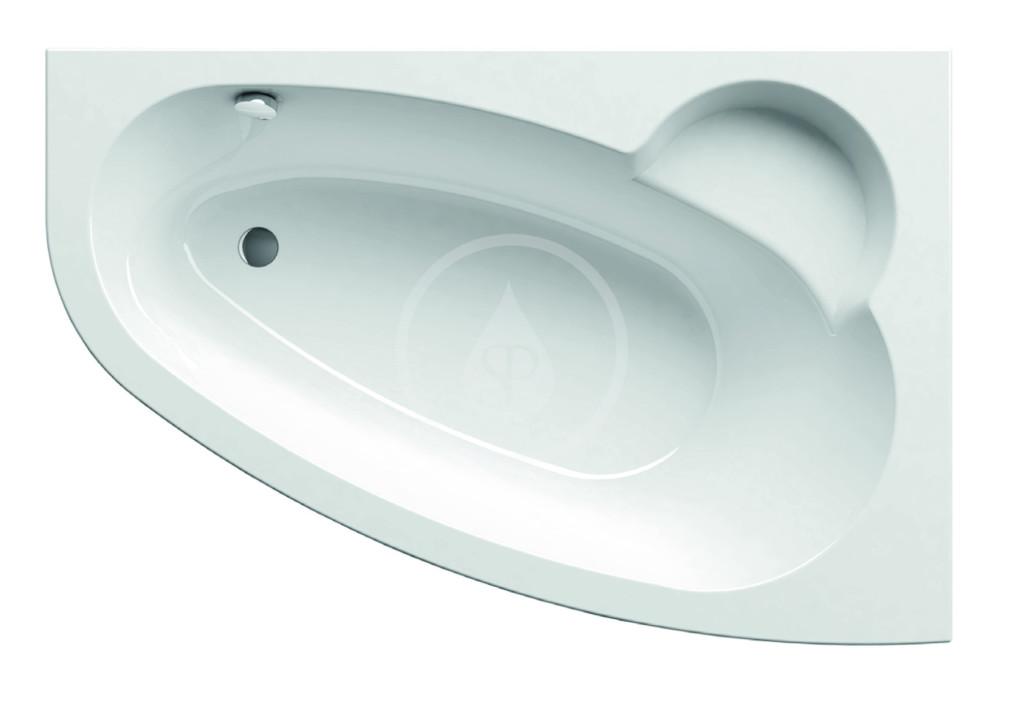 RAVAK Asymmetric Asymetrická vana 160 L, 1600x1050 mm, pravé, bílá C471000000