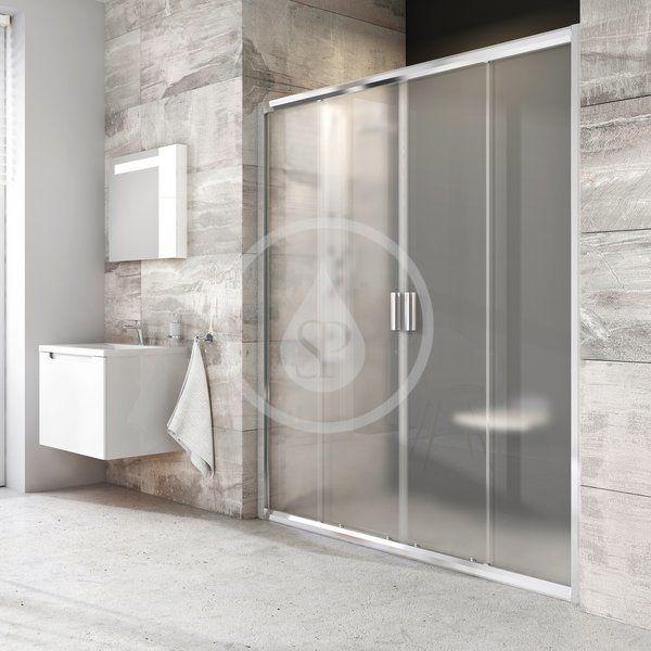 RAVAK - Blix Sprchové dveře čtyřdílné BLDP4-140, 1370-1410 mm, lesklý hliník/sklo Grape (0YVM0C00ZG)