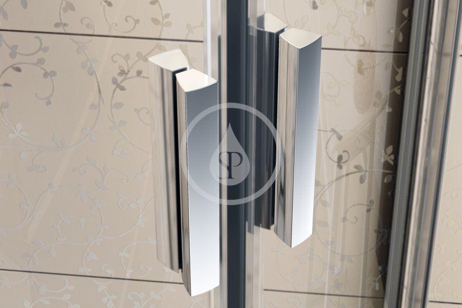 RAVAK - Blix Sprchové dveře čtyřdílné BLDP4-140, 1370-1410 mm, satin/čiré sklo (0YVM0U00Z1)